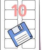 Diskett-etikett 70,0 x 52,0